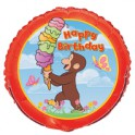"Curious George 18"" Happy Birthday Mylar"