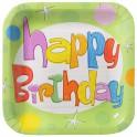 Glee Birthday square luncheon plates