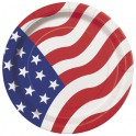 "8 AMERICAN FLAG 7"" PLATES"