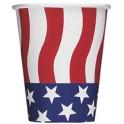 8 AMERICAN FLAG 9OZ CUPS