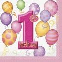 First Birthday Balloons lunch napkins