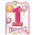 First Birthday Balloons invitations