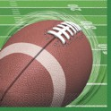 16 Football Spiral lunch napkins
