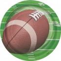 Football Spiral desert plates