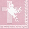 16 DOVE CROSS PINK LUNCH NAPS