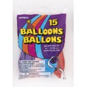 15 12'' ASSORTED BALLOONS