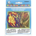6CT 12'' MARBLEIZED BALLOONS