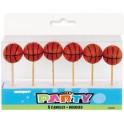 6 BASKETBALL PICK CANDLES