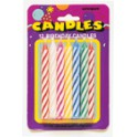 12 SPIRAL B'DAY CANDLES