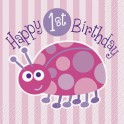 Ladybug First Birthday beverage napkins