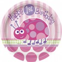 Ladybug First Birthday dessert plates