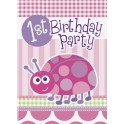 Ladybug First Birthday invitations