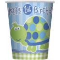 Turtle First Birthday cups