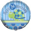 "Turtle First Birthday 18"" mylar balloon"