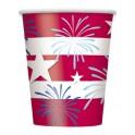 8 PATRIOTIC STARS 9OZ CUPS