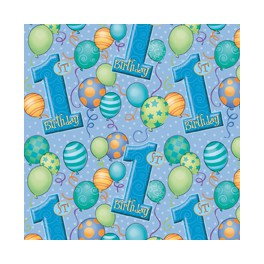First Birthday Balloons Gift Wrap