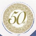18'' BULK 50TH ANNIV FOIL BLLN