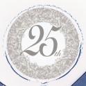 """18"""" BULK 25TH ANNIV FOIL BLLN"""
