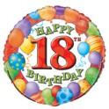 "18"" BULK 18TH BDAY BLLNS FOIL"