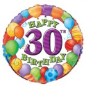 "18"" BULK 30TH BDAY BLLNS FOIL"