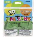 "20 9"" LIME GREEN BALLOONS"