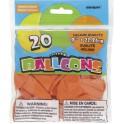 20 9'' PUMPKIN ORANGE BALLOONS