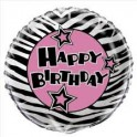 zebra passion 18 inch mylar balloon
