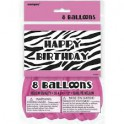 zebra passion 12 inch latex balloons
