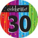 30th milestone plates