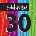 30th milestone napkins