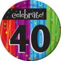 40th milestone plates