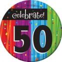 50th milestone plates