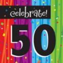 50th milestone napkins