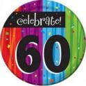 60th milestone plates