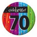 70th milestone plates