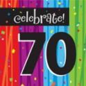 70th milestone napkins