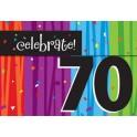 70th milestone invites