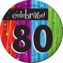 80th milestone plates