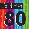 80th milestone napkins