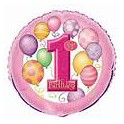 "First Birthday Balloons 18"" mylar"