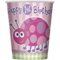 Ladybug First Birthday cups