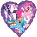 "My Little Pony 18"" Heart Shape Mylar"