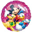 "Mickey Mouse w/Donald & Pluto 18"" Mylar"