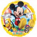 """Mickey Mouse w/Pluto 18"""" Mylar"""
