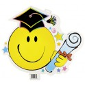 GRAD SMILEY CUTOUT 17.5''